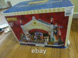 RARE LEMAX Christmas Nutcracker Stage Show Action/Lights Music Box AS IS