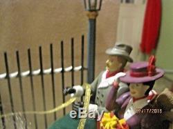 RARE MR CHRISTMAS Victorian Era Christmas Carriage Ride Action/Lites Music Box