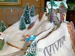 RARE MR. CHRISTMAS Winter Wonderland Ski Jump Action/Lites 30 Tune Music Box MIB