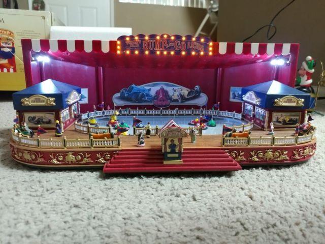 Rare Mr Christmas Worlds Fair Bumper Cars Multi-action/lights Music Box