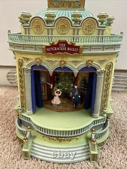 RARE Mr Christmas European Opera House Moving Nutcracker Ballet Music Box VIDEO