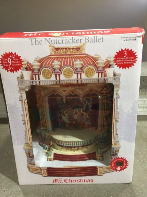 Rare Mr. Christmas European Opera House The Nutcracker Stage Show Music Box