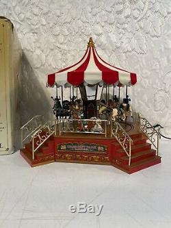 RARE Mr Christmas Gold Label Crescent Park Carousel 75th Anniversary Music Box