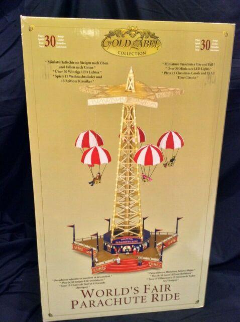 Rare Mr Christmas Gold Label World's Fair Parachute Ride Action/lights Musical