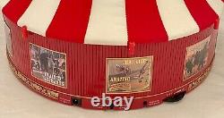 RARE Mr. Christmas Gold Label Worlds Fair Big Top Circus Tent Animated Musical