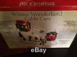 RARE Mr Christmas Gondola Cars & Ski Hill Multi-Action/Lites 30 Tune Music Box