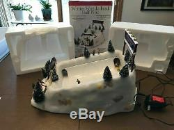 RARE Mr Christmas Half Pipe Snowboarders Action/Lites Music Box See Video