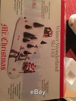 RARE Mr Christmas Ski Hill Multi-Action/Lights 30 Tune Music Box MIB