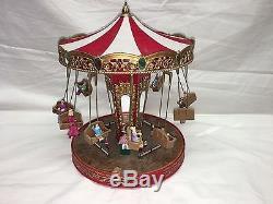 Mr Christmas Carousel.Rare Mr Christmas World S Fair Double Swing Carousel Action
