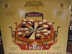 RARE Mr Christmas World's Fair Spinning Teacups Ride Lights/Action Music Box MIB
