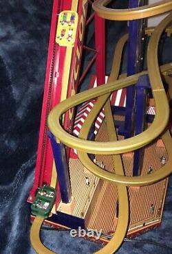 RARE Mr Christmas Worlds Fair Roller Coaster Action/Lights Music Box, MINT, 2009