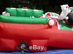 RARE NEW GEMMY 8' Tall Lighted Christmas Santas Pet Store Inflatable Airblown