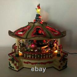 RARE New Bright 1997 Supersize Animated Christmas Holiday Musical Carousel WORKS