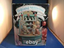 RARE Precious Moments Christmas Toy Store Toy Land Multi-Action Music Box NIB