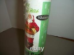 RARE Vintage Whitman Giant Santa Door Poster Christmas DecorationSEALED