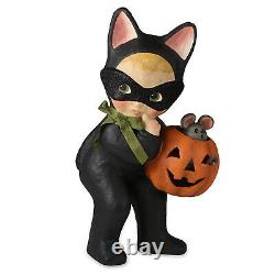 RETIRED 13 Bethany Lowe Cat Girl Pumpkin Halloween Retro Vtg Style Decor Figure