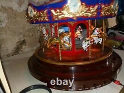 Rare! 2013 GOLD LABEL MR. CHRISTMAS 75TH ANNIVERSARY COLLECTION CAROUSEL no/Box