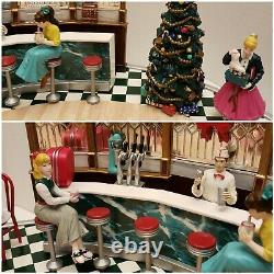 Rare Mr. Christmas Holiday Soda Shop Nostalgic Fifties Animated Musical 30 Songs
