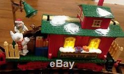 Rare New Bright Animated Dillard's Christmas Train Set + Box GREAT CONDITION