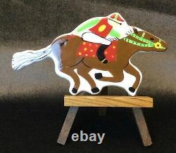 Rare Rare Small Racehorse Horse Happy Everything Attachment Coton Colors