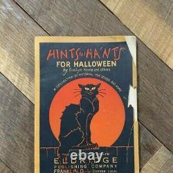 Rare, Vintage Hints & Hants For Halloween Book 1930s