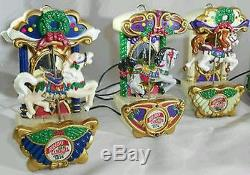 Rare Vintage Mr Christmas Holiday Lighted Musical Circus Carousel collectable