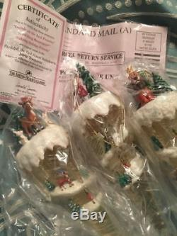 Rare Vintage Thomas Kinkade Ashton Drake Rudolph Misfit Icicle Ornaments 12 Set