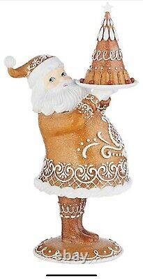 Raz imports Gingerbread Santa Claus New