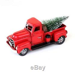 Red Metal Truck Christmas Party Decoration Tree Xtmas gift ideas Vintage Style