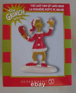 Retired THE LAST CAN OF WHO HASH Dept 56 Dr. Seuss Grinch New Box