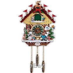 Rudolph & Friends Musical Cuckoo Clock Christmas Wall Sculpture