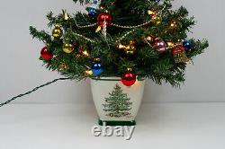 SPODE LIGTHED CHRISTMAS TREE by TELEFLORA Complete and working 24tall