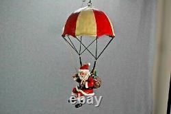 Santa Drops In Flights Of Fancy Rotating Mobile Parachute Plane Elf 1998