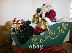 Santa in Sleigh with Reindeer Large Animated Holiday Decor by Holiday Living 24