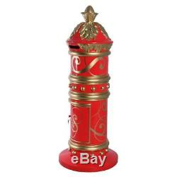 Santa's North Pole Red Mailbox British Replica Christmas Letter Postbox 65