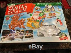 Santa's Sleigh Ride 1993 Mr Christmas Lights Animated Original Box