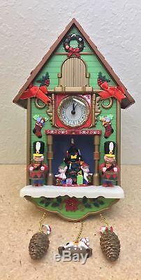 Santa's Tick Tock Till Christmas Cuckoo Animated Musical Clock