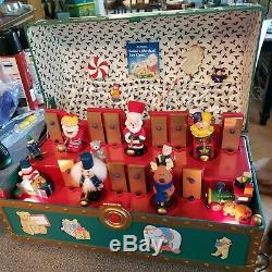 Santas Musical Toy Chest Mr Christmas 35 Songs Animated 1994 Vintage TESTED