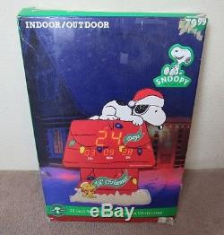 Snoopy Countdown To Christmas 36 in Peanuts Yard Sign Vintage