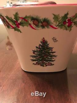 Spode Christmas Tree 2010 Annual Collection planter 5high, 7across