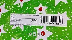 Susan Branch Deck The Halls Teapot Michael & Co Ltd 9 x 6 NIB