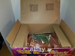 Telco Yule Burner Animated Talking Singing Christmas Log Brand New in Box