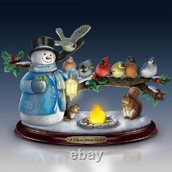 The Thomas Kinkade Musical Winter Glow Snowman Painter of Light Christmas Decor