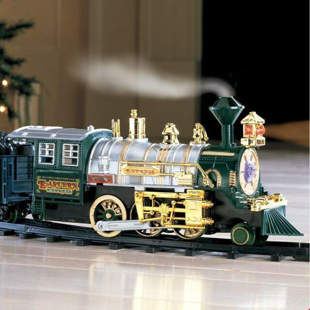 Traditional Around The Christmas Tree Train Set Decoration Music Sound & Lights