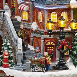 Train Village Christmas Prop Animated LED Lights 8-Songs Decoration Holiday