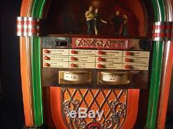 ULTRA RARE Mr Christmas Lighted Juke Box Dancers 50's Radio & 12 Tune Music Box