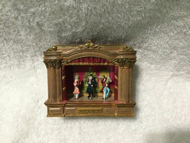 Ultra Rare Mr. Christmas Mini Nutcracker Suite Moving Ballet Stage Music Box