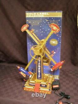 ULTRA RARE Mr Christmas World's Fair Starship Ride Action/Lites Music Box VIDEO