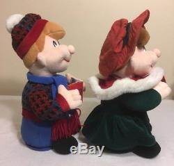VERY RARE Christmas Plush Carolers Infrared Interactive Dolls Singing Dancing