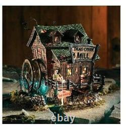 VERY RARE Dept 56 Snow Village Halloween DEAD CREEK MILL 54715 Lit Building